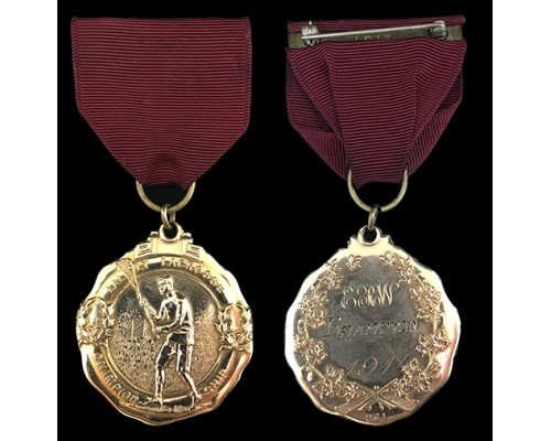 1914 Mann Cup Lacrosse Championship Medal  (Lally Lacrosse)