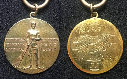 1915 US Collegiate Lacrosse League Northern Div. Champions Medal (Harvard)