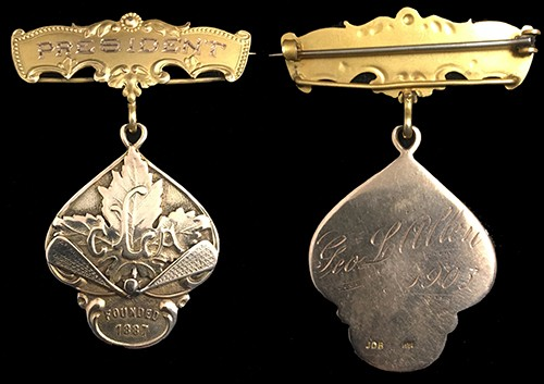 1905 Canada Lacrosse Association Presidents Medal